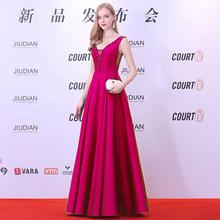 Женское вечернее платье Ladybeauty, длинное ТРАПЕЦИЕВИДНОЕ ПЛАТЬЕ С v-образным вырезом, бисером и открытой спиной, вечерние платья для выпускног...(Китай)