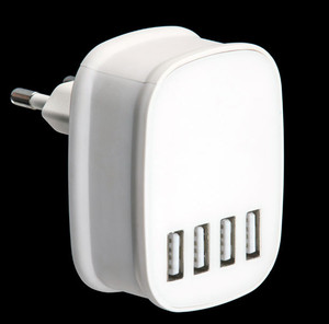 CB CE FCC ROHS KC SAA certified 4 usb wall charger, 5V 4.5A usb multi charger for mobile phones, mp3