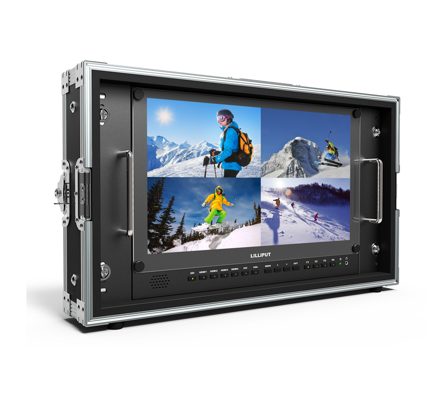 15.6 inch 4K Broadcast director monitor with 3G SDI HDMI DVI VGA input studio monitor