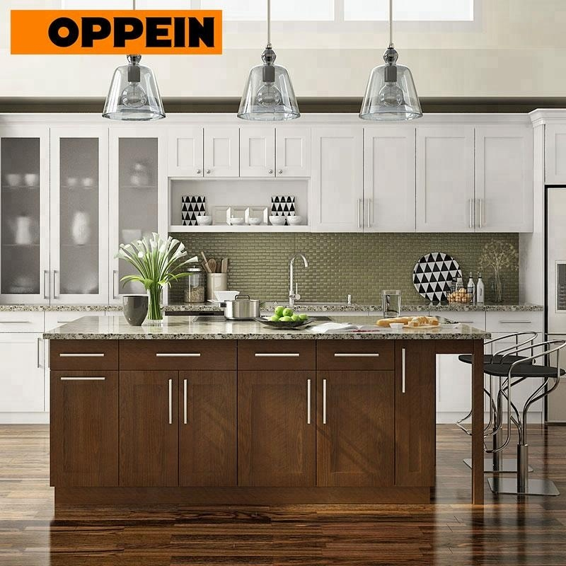 Oppein Best Sale New Design High Quality Wooden Shaker Kitchen Cabinets  With Island - Buy Kitchen Cabinets With Island,Wooden Kitchen  Cabinets,Shaker ...