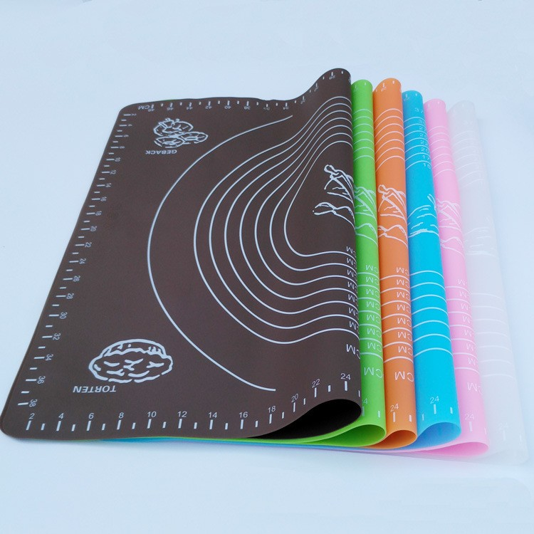 Custom Oem Extra Large Non-slip Silicone Pastry Mat with Measurement Wholesale Dough Rolling Nonstick Silicone Baking Mat