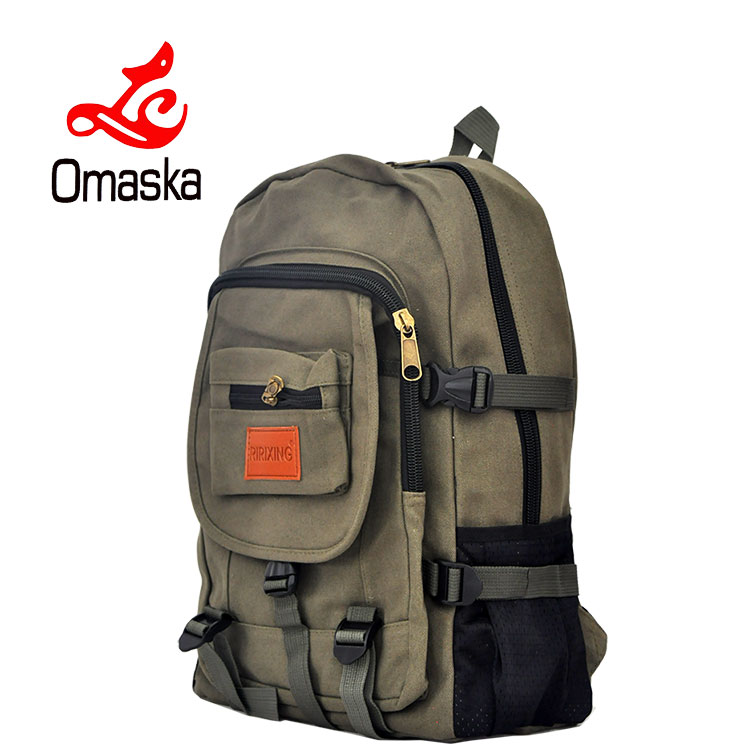 new design outdoor sports new backpack soft good bags vintage canvas backpack