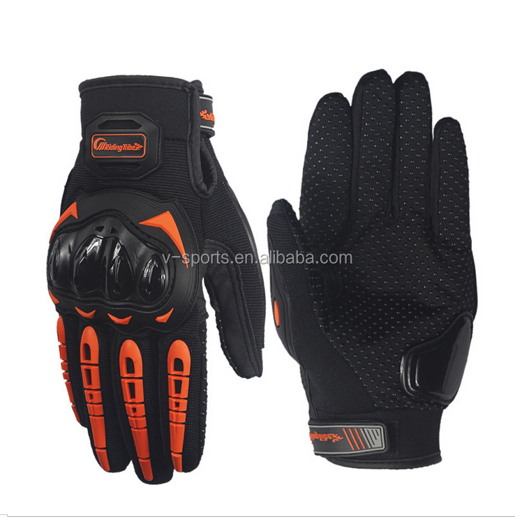 Best Protective Black Orange Green Luvas Motorcycle Racing Gloves With OEM Service