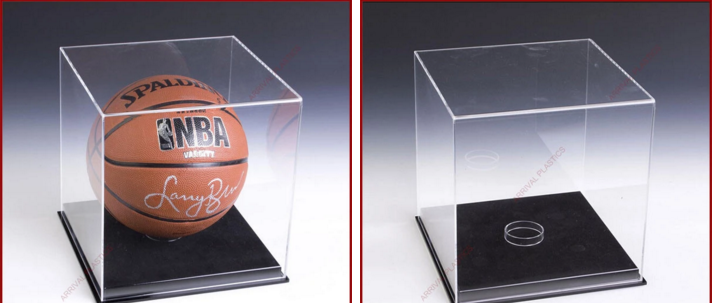 Wholesale Clear Acrylic Baseball Cap Display Case With Black Base