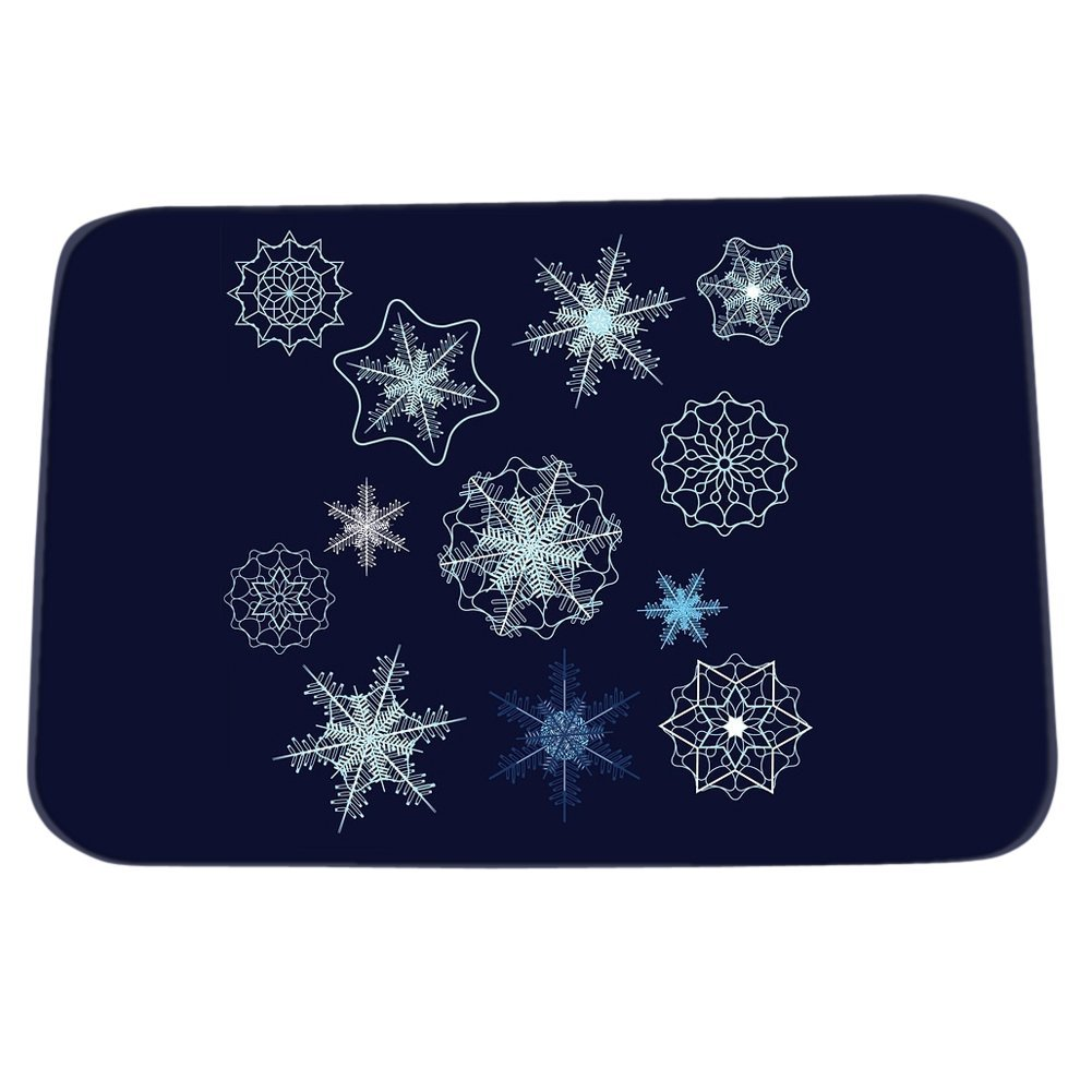 DearHouse Retro Bar Welcome Floor Mats House Geometric Snowflake Door Mats for front Anti-Slip Outdoor Carpet 15.7inch By 23.6inch