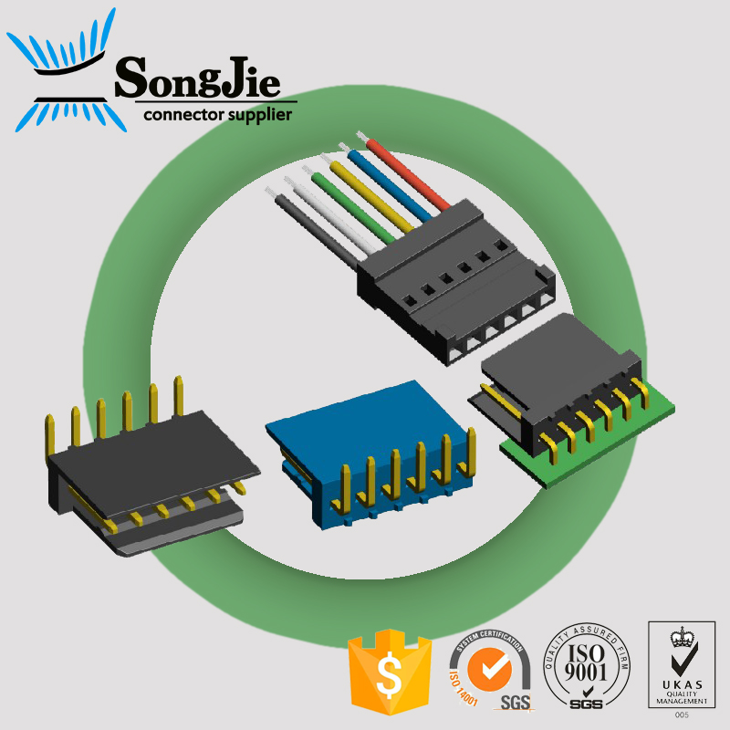 Steel,Plastic,Phospher Bronze,Selective Gold right angle smd type PH 2.54 wire to board wafer connector in warehouse