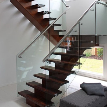 Charmant Staircase Glass Railing With Stainless Steel Glass Standoff   Buy Staircase  Glass Railing,Staircase Railing,Glass Railing Product On Alibaba.com