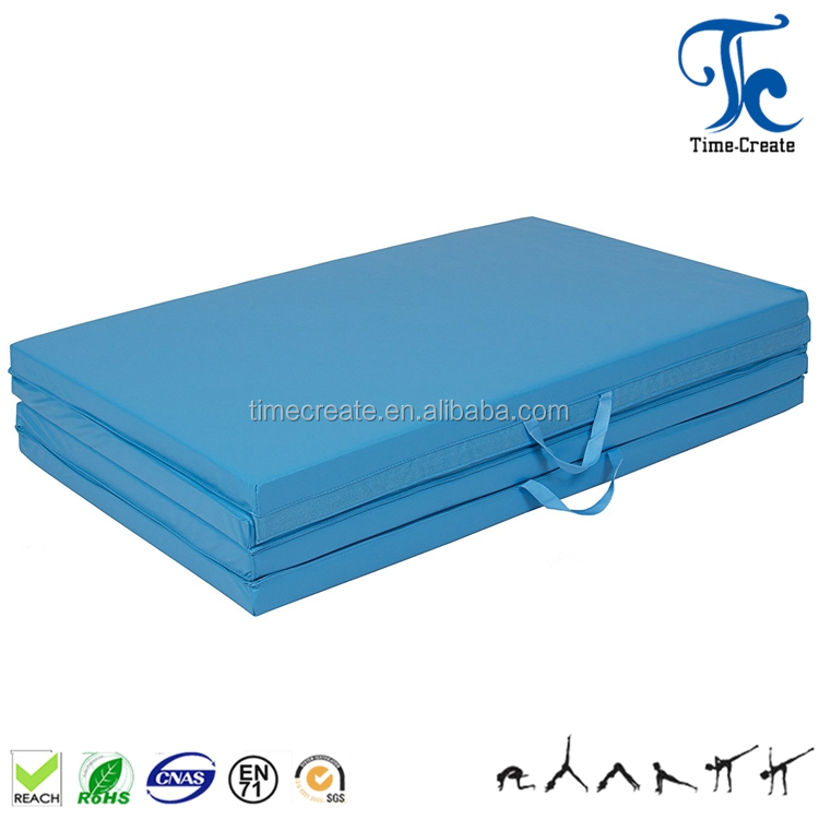 exercise mat / 100% eco-friendly Tri-Fold/Four-Fold folding gymnastic mat