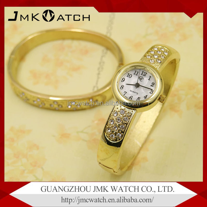 Fashion Luxury ladies bracelet wrist watch with stainless steel watch bracelet