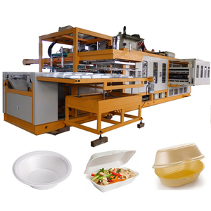 Fully automatic ps foam food container lunch box forming and cutting machine