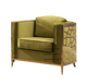 Micro Suede Velvet Gold Metal Framed Sex Sofa chair