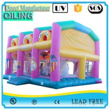 2017 favorable sale big fun inflatable jumping wall with suit for kiddie