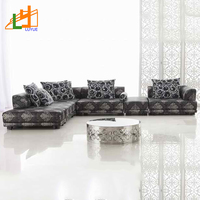Middle east style designs home furniture set corner modern leather sofa
