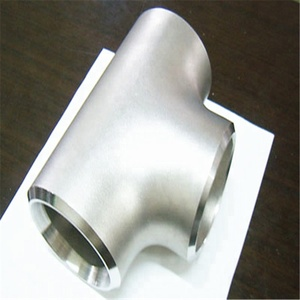 ss304 stainless steel pipe fitting BW seamless equal tee