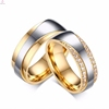 Latest 18k gold plated silver gold two tone couple ring