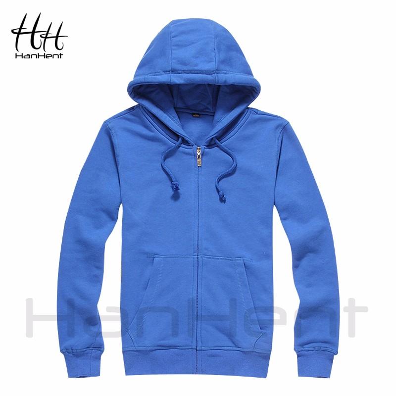 HanHent Autumn Spring Fashion Solid Color Hoodies Bodybuilding Man's Cardigan Streetwear Hip Hop Clothing Fitness Sweatshirts