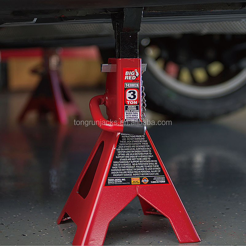 2 Ton Double Locking Jack Stand Large Foot Base  T42001C