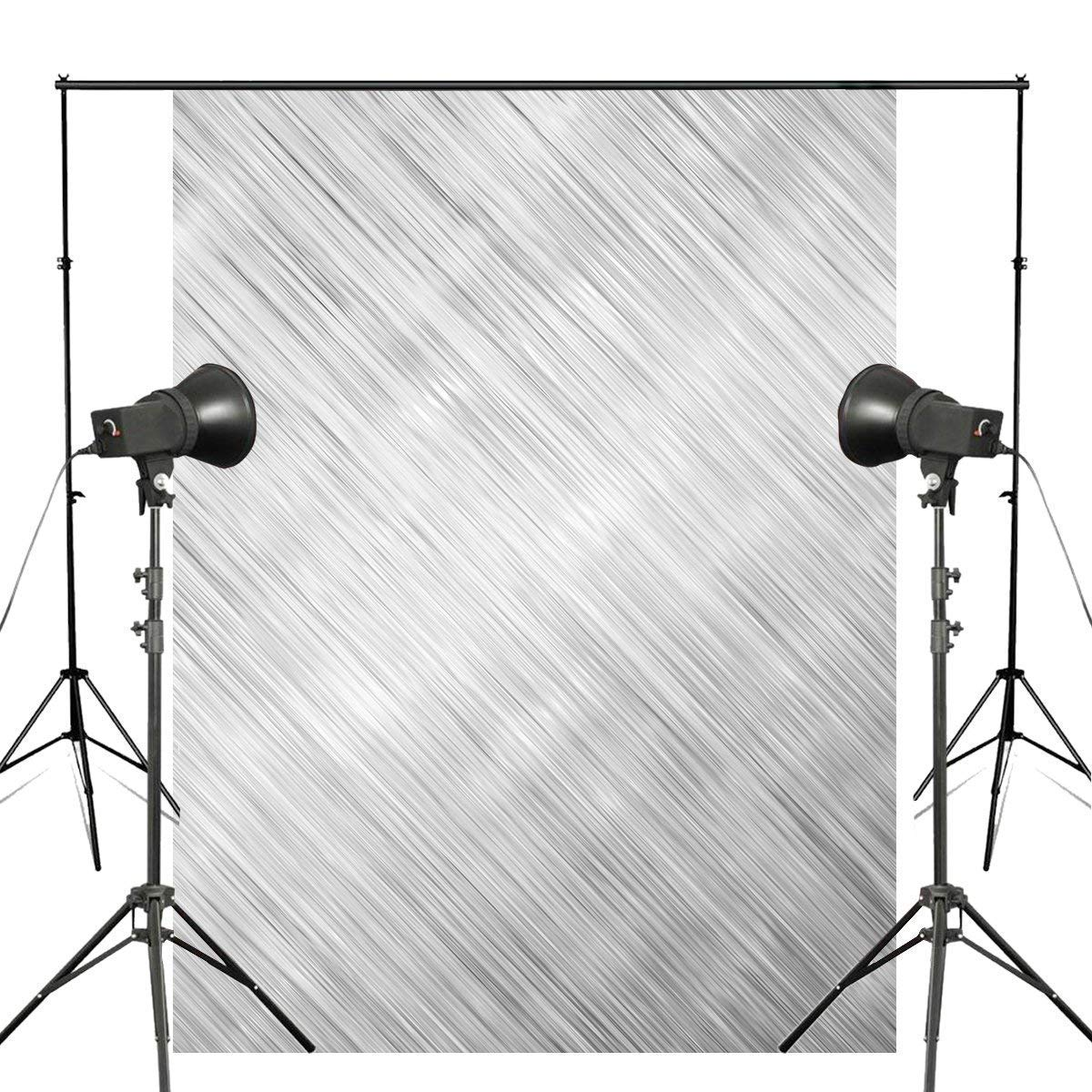 ERTIANANG 5x7ft Abstract Brushed Metal Photography Backdrops Gray Line Backdrop Art Photo Studio Photography Background Wall