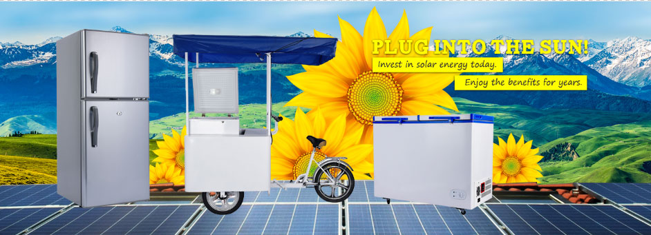 12 V/24 V BCD-125T tre porte frigorifero solare 125 Litro