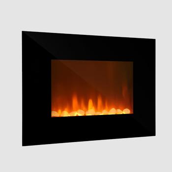Factory Direct Sale Ljhf2302e Black Glass Log Flame Electric