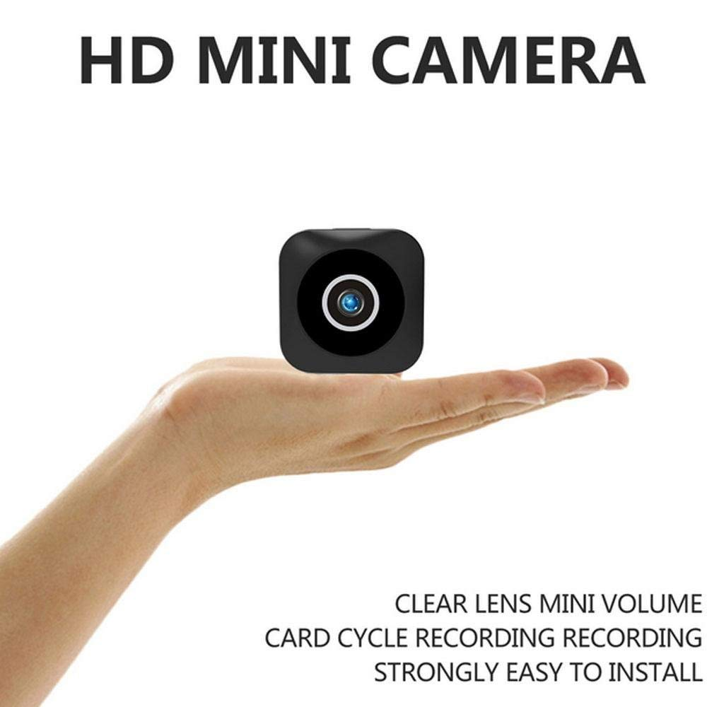 OXOQO WIFI HD Mini Camera, Portable Sports Camera with IR Night Vision and Motion Detection for Home Office Security Surveillance