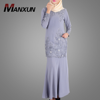 2018 Fashion New Design Malaysia Suit High Quality Middle East  Region Muslim Clothing Hot Popular Islamic Baju Kurung