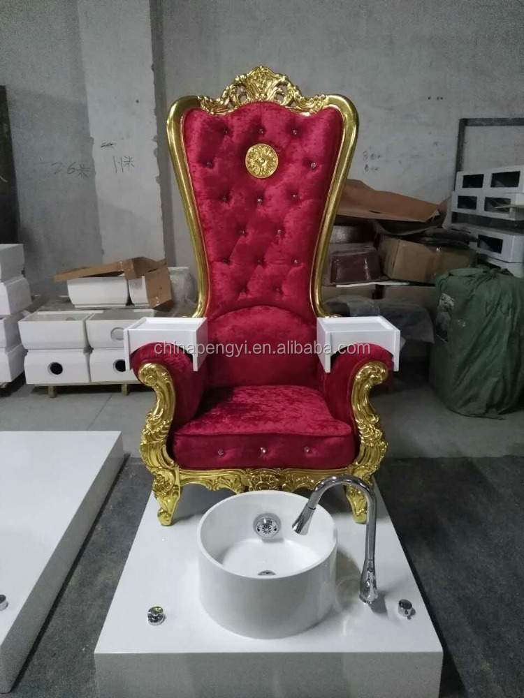 Red Beauty Salon Backwash Units Shampoo Chair