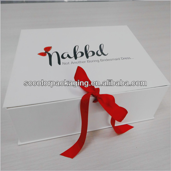 Christmas gift packing box, packaging of evening dress new packing box, gift box