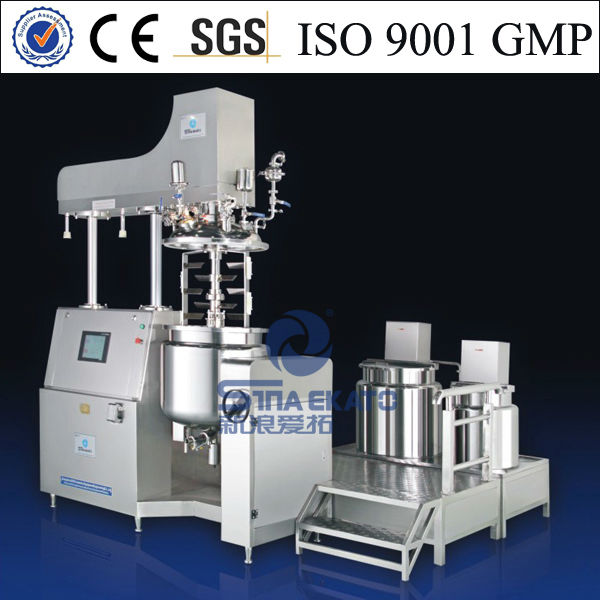 high quality cosmetic hydraulic hair dye mixer equipment with oil and water pot