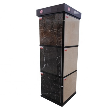 Customized Natural Stone Slab sample Showroom Display Rack with Spin Panels
