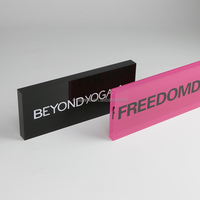 acrylic block for jewelry. plexiglass block for nameplate. for logo display