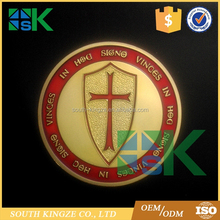 Fashion Knight Red Cross Gold Plated Commemorative Coins Art Collectible Gifts Crafts
