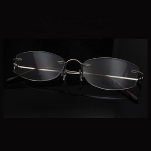 f8285b972d NO MOQ popular eyewear titanium metal optical glasses frame titan rimless  optical frames