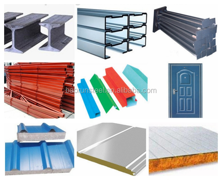 China baorun metal building materials portal frame steel structure prefab houses