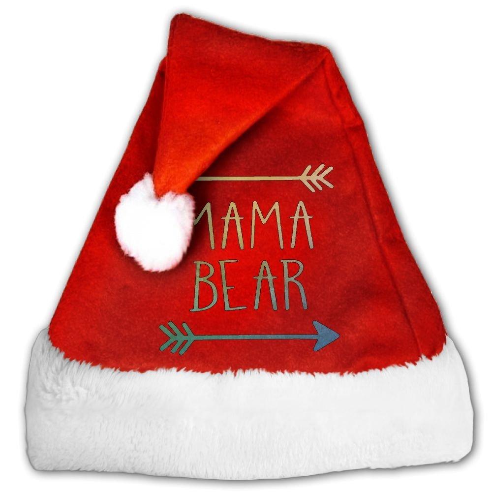 Get Quotations · Dear Mama Bear Christmas Hat Velvet Santa Claus Hat S Size  For Kid fbb6646d2