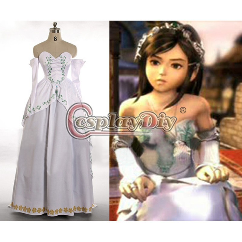 Final Fantasy IX Cosplay Costume Garnet Princess Bride Gown Party Dres Adult Women's Halloween Carnival Costume Cosplay