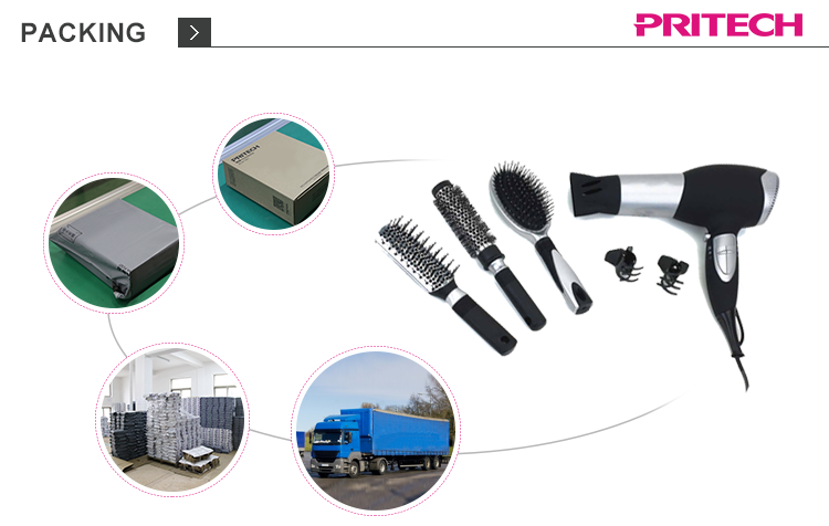 PRITECH China Supplier Cool Shot Function Travel Size Hair Dryer With Concentrator