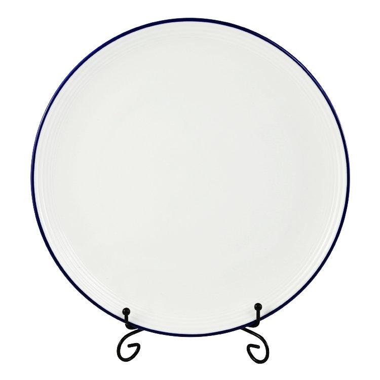 Italain personalizado borda azul lembrança simples promocional em branco canecas de cerâmica para o restaurante