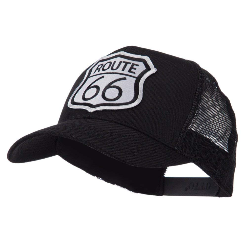 c7bc92ac28e Get Quotations · ETC Embroidered Military Patched Mesh Cap - Route 66  W42S71F