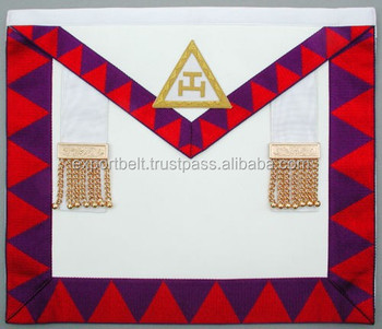 Masonic Regalia Royal Arch Apron With Sash,Royal Arch Companion Apron,Royal  Arch Regalia - Buy Masonic Regalia Apron,Royal Arch Apron And Sash,Masonic