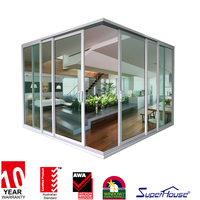 Australia AS2047 standard commercial system double glass aluminum sliding door for living room