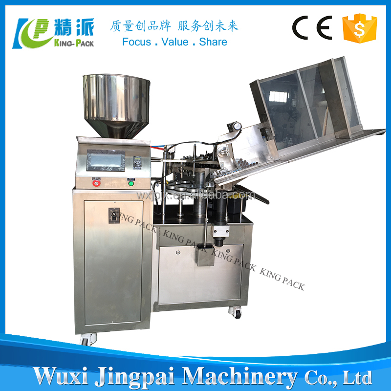 Advanced technology touch screen KPLG -60 automatic aluminum tube filling and crimping machine