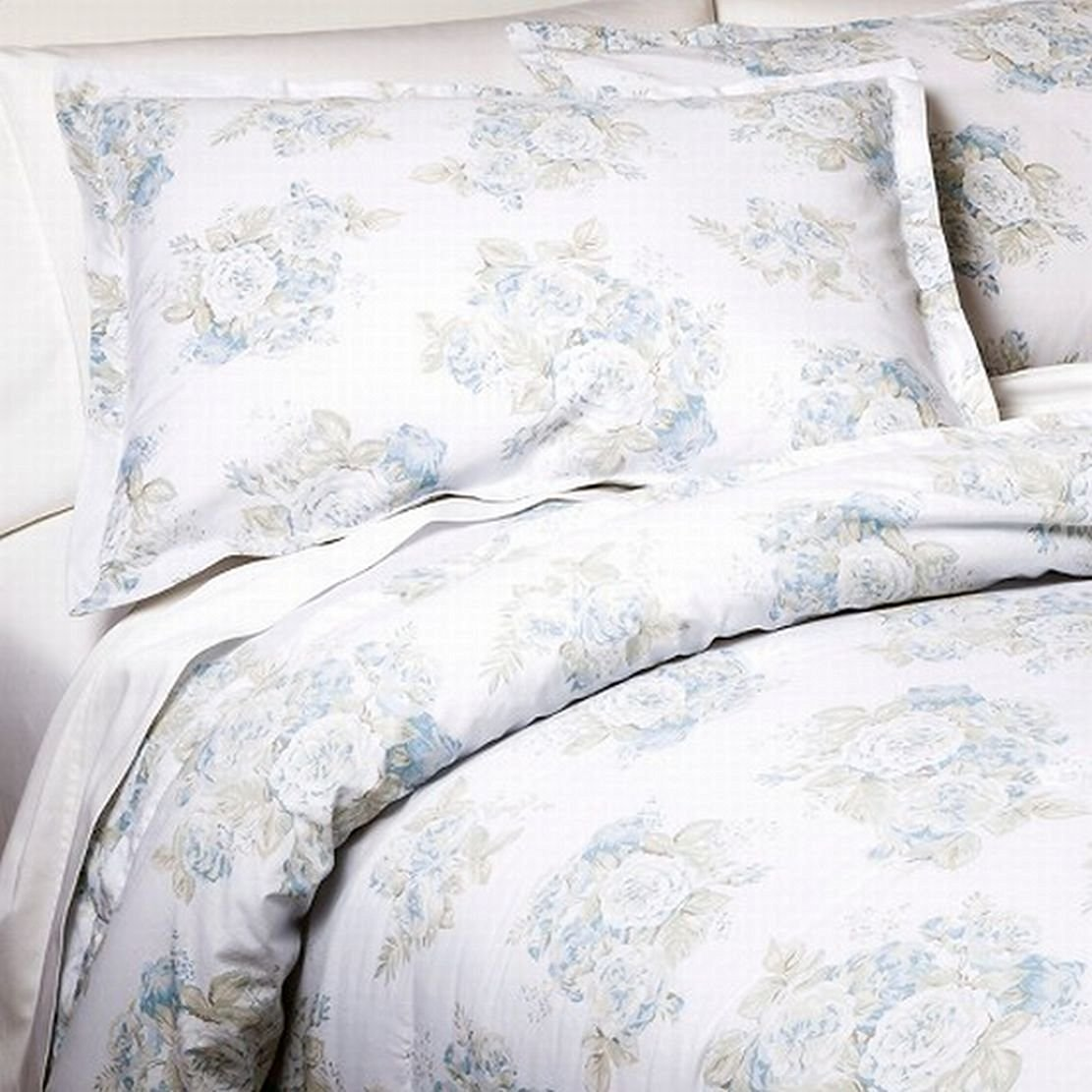 Simply Shabby Chic Twin Bed Comforter Set Pretty Blue Floral 2 Piece