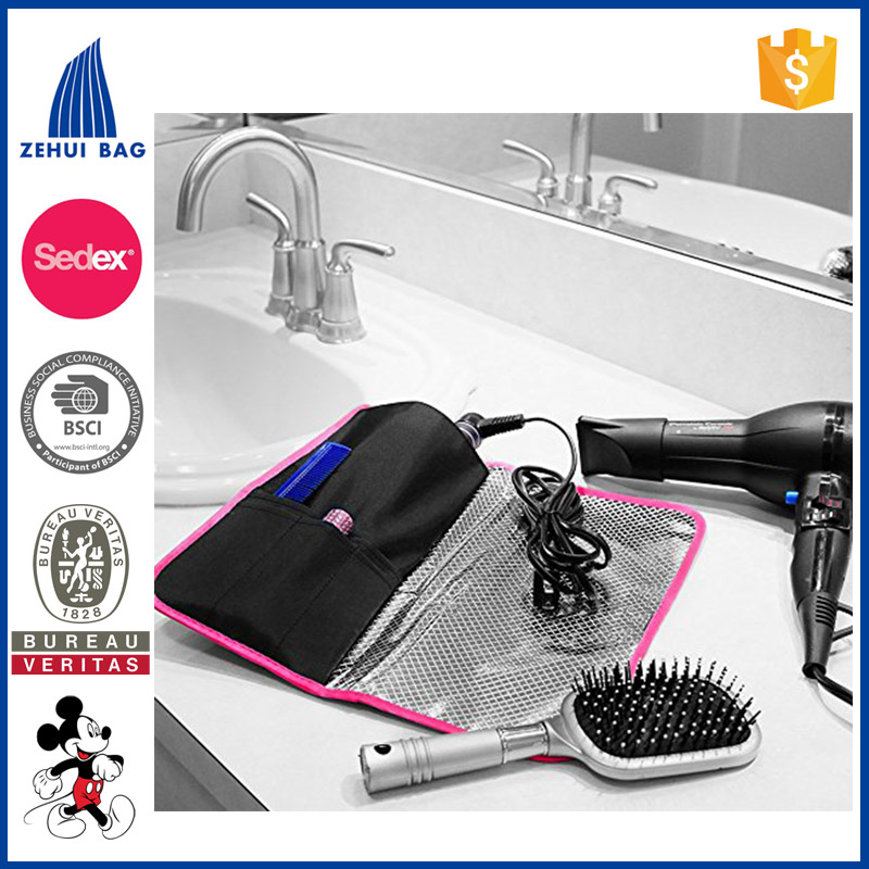 Heat Resistant Cosmetic Bag Hair Straightener Storage Bag Hermal Pouch for Any Straightener