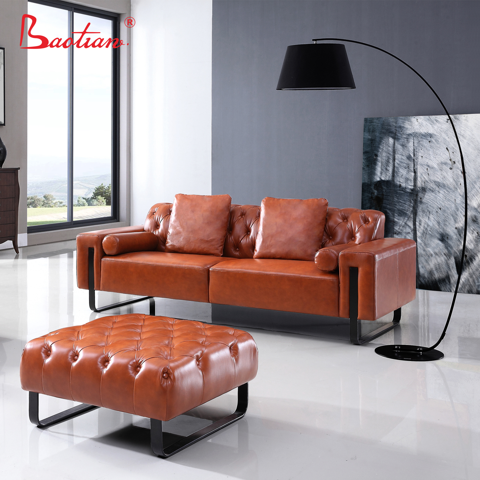 Comfortable recliner chair sofa luxury sofa set solid wood home furniture chair living room chair
