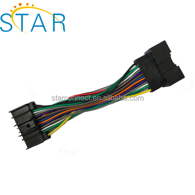 high quality auto 24 pin connector radio wire harness for ford