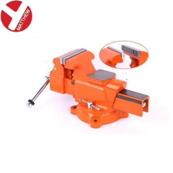 Heavy Duty Free Rotate bench Vise with Anvil Block