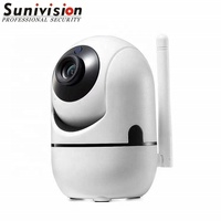 HD night vision h.264 sd card storage DOUBLE wifi p2p ip camera with speaker