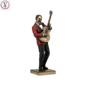 Factory Custom made best home decoration gift polyresin resin jazz figurines black
