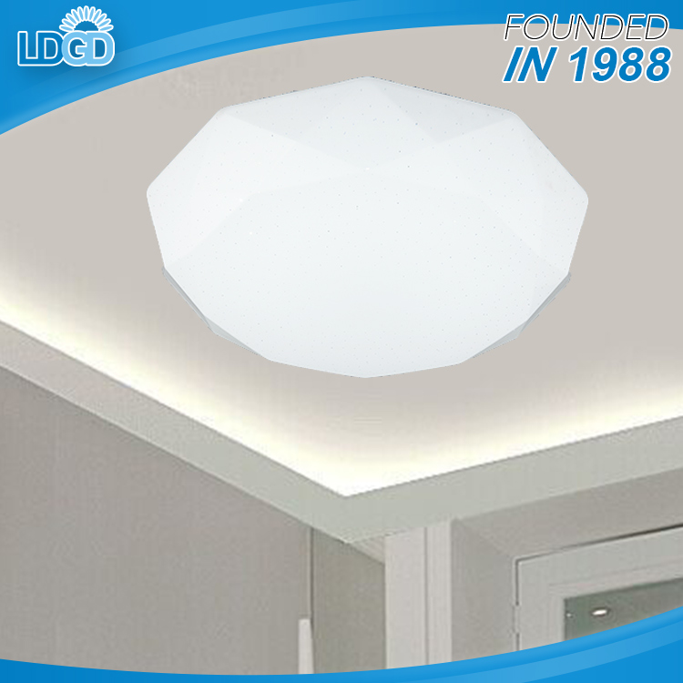 China Golden Manufacturer home decorative 18w led ceiling lighting fixture D350*H100mm acrylic lamps